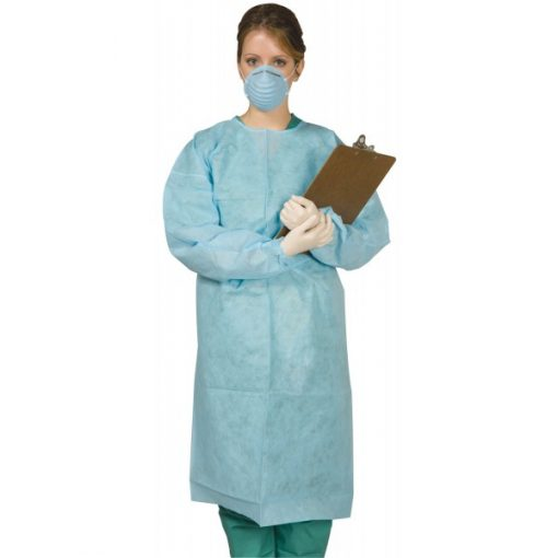 Isolation Gown Tie-Back Elastic Cuff 25/Pack