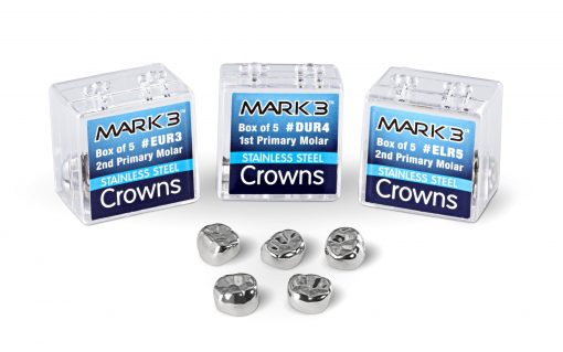 MARK3 Stainless Steel Crowns with box