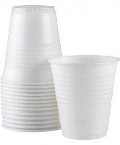 Plastic Cup White 170ml 1000:Carton
