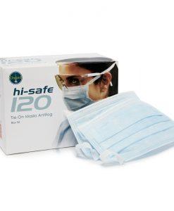 Ongard HiSafe 120 Masks Tie-On Antifog Blue 50:Box