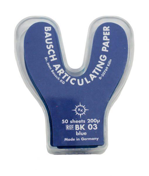 Bausch BK03 Articulating Paper Horseshoe Shape Blue 200u 50 Sheets