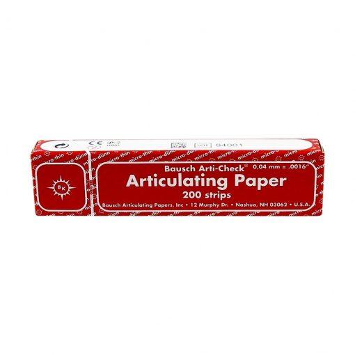 Bausch BK10 Articulating paper Red 200 Strips 40u