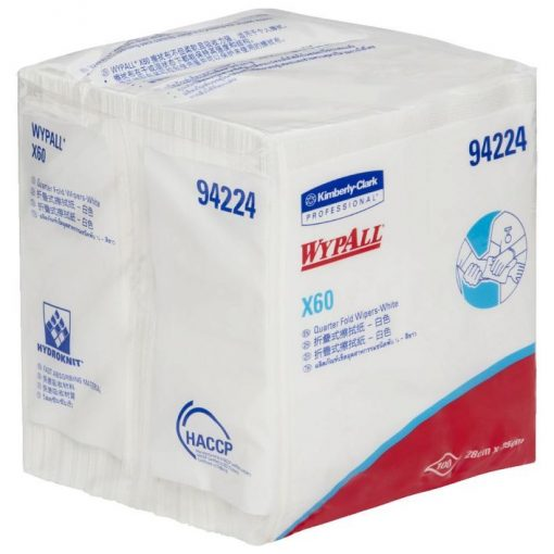 WypAll X60 single sheet wipers 28cm x 35cm 100:Pack