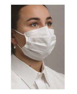 Level 3 Dual Fit Ear-Loop Face Mask Pleated Blue 50:Box