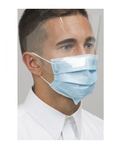 Level 3 Dual Fit Ear-Loop Face Mask With Shield (Pleated) Blue 25/Box