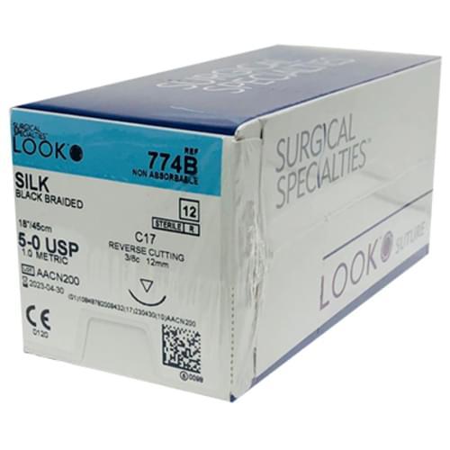 Look Suture Silk Braided 12/Box