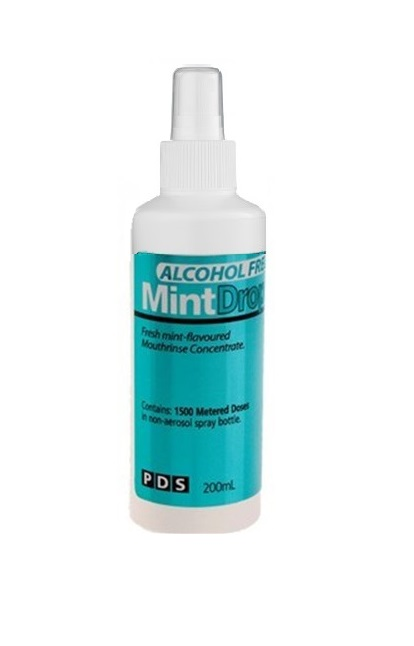 Mintdrops Mouthrinse Alcohol Free 200ml Pump Bottle