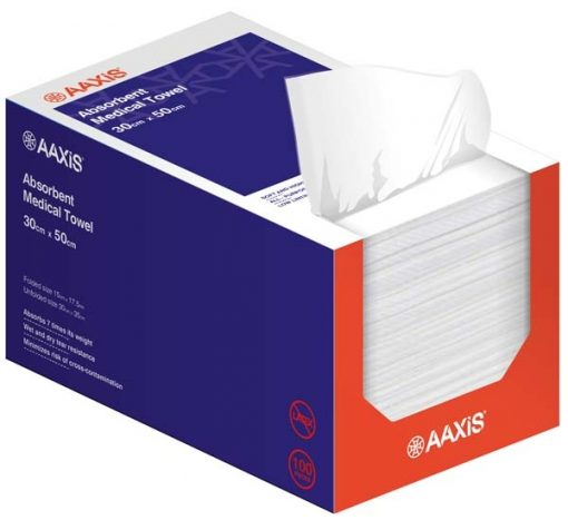 Aaxis Absorbent Medical Towel 30x35cm 100/Box