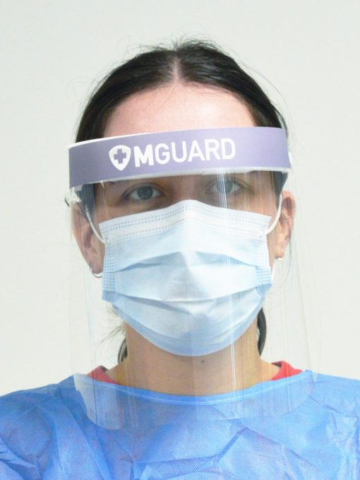 Face Shield with Foam Headband and Elastic Straps