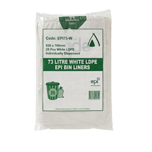 Biodegradable 73L Garbage Bags Heavy Duty 250/Carton