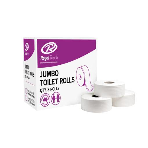 Royal Touch 2PLY Jumbo Toilet Rolls 8 Rolls/Box
