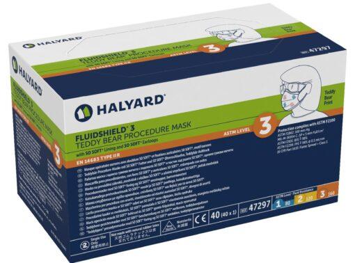 Halyard Face Mask Level 3 Fog Free Ear-loop Orange 40/Box